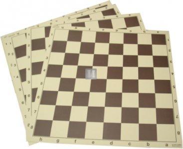 50 x 50 Scacchiera da torneo in cartone plastificato 707