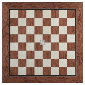 45 x 45 Scacchiera in legno intarsiato di quercia, lucida - 716S45