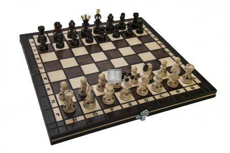 Completo scacchi pieghevole in legno - cm 35x35