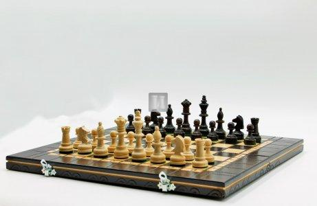 """Completo scacchi """"Maison"""" pieghevole in legno - cm 39x39"""