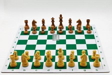 Completo con scacchi in legno + scacchiera avvolgibile con borsa, da torneo, art.405