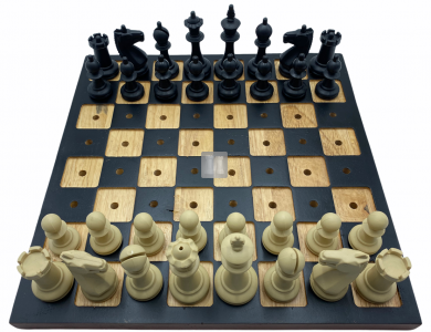 Chess set for blind players