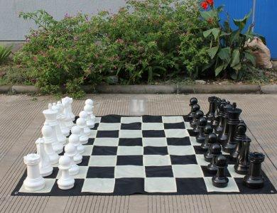 Completo scacchi+scacchiera giganti - Re cm 41
