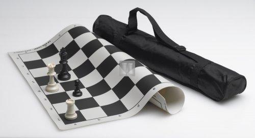 Completo scacchi in silicone + scacchiera in silicone con borsa