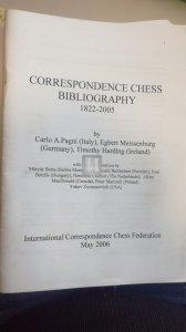 Correspondence chess bibliography 1822-2005 - 2nd hand