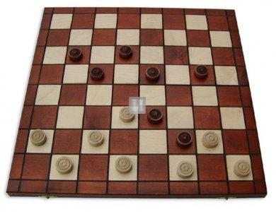 Checkers in wood