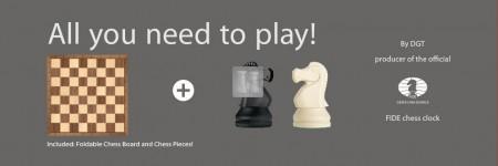 DGT Chess Starter Box grey (scacchi+scacchiera)