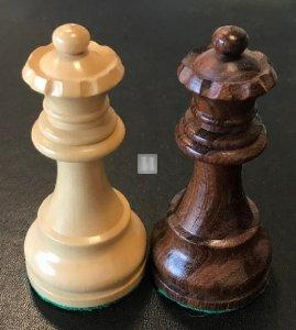 Doppia Regina aggiuntiva in legno Bianco/Marrone