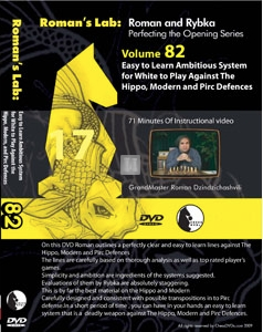 Easy to learn ambitious system for White to play against the Hippo, Modern and Pirc Defences - DVD