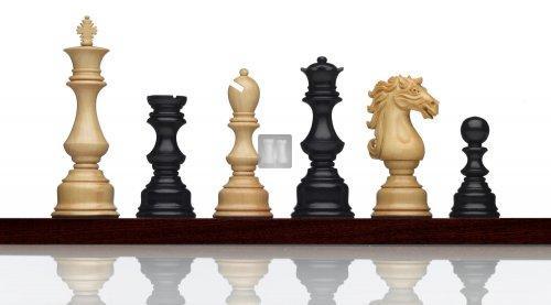 """""""Equis"""" chess set boxwood-ebony - King mm 120"""