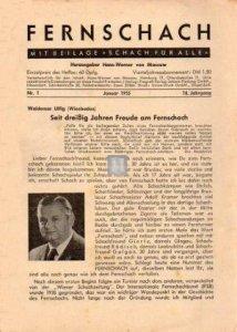 @Fernschach 33.Jahrgang 1972 Nr. 1 bis 12 (1 Band)  - 2d hand