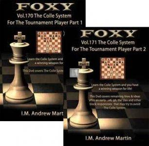 Foxy Chess Openings, 170 and 171: The Colle Chess Opening for the Tournament Players Vol 1 and 2 (2 DVDs)