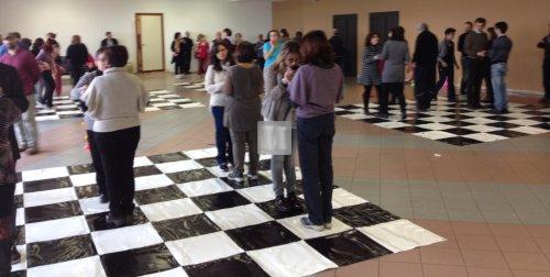 Scacchiera gigante Giocomotricità - solo per FIDE