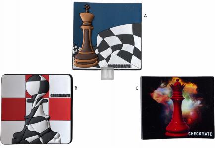 Magnete scacchistico gommoso