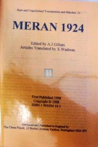 Meran 1924 - 1st tournament - 2nd hand