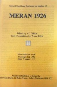 Meran 1926 - 2nd tournament - 2nd hand