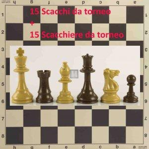 Offerta 15 Scacchi da torneo + 15 Scacchiere da torneo - 2TSC22