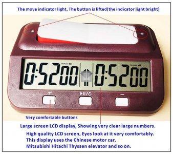 Digital chess clock - Basic 101