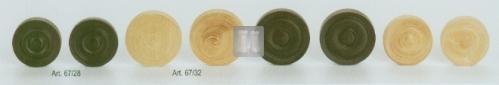 Pedine per la Dama in legno di bosso - 28mm.