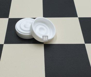 25 mm Pedine per Dama in plastica