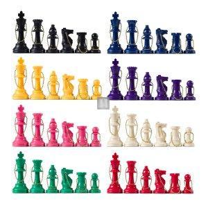 Portachiavi scacchistico, pezzi in plastica
