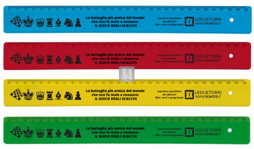 Colored chess rulers
