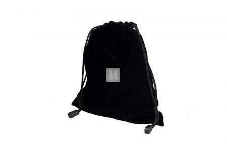 Sacchetto portascacchi in velluto - nero