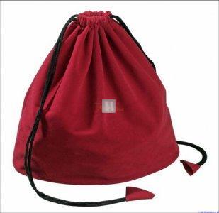 Sacchetto portascacchi in velluto - rosso