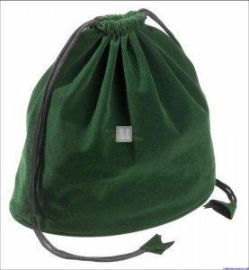 Sacchetto portascacchi in velluto - verde