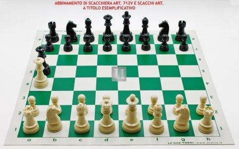 """Re mm 96 Scacchi da torneo in plastica """"Staunton"""" - piombati"""