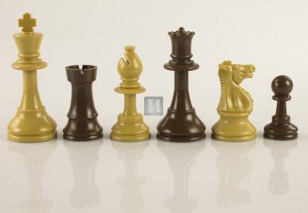 "Re mm 95 Scacchi da torneo in plastica ""Staunton"" Gambit - beige/marrone"