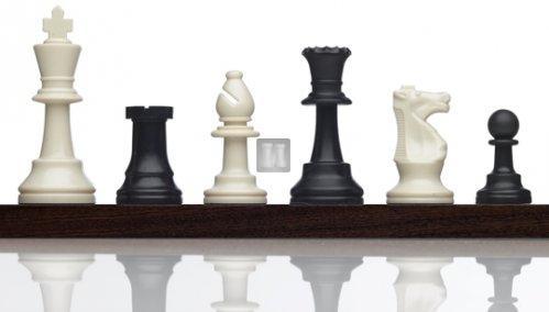 """Tournament Plastic Chess Set """"Gambit"""" - Black/White"""