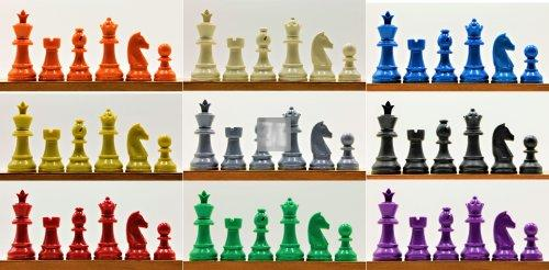 Coloured chess pieces
