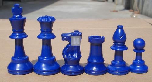 """Re mm 95 Scacchi da torneo in plastica """"Staunton"""" Gambit - rosso/blu"""