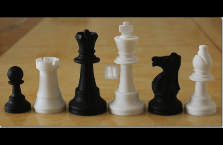 Tournament size silicone chess pieces