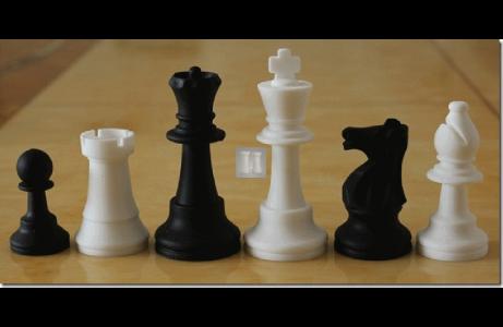Re mm 88 Silicone Scacchi da torneo - bianco-neri