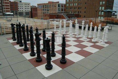 Completo Scacchi giganti da esterno - Re cm 90 + scacchiera