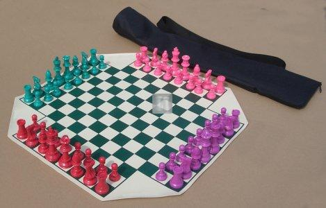 Large chess set for four players