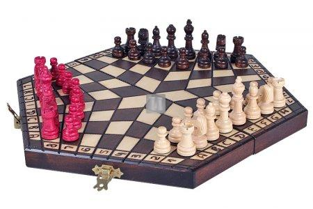 Large chess set for three players