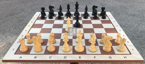 Scacchi + Scacchiera da torneo in legno - completo black