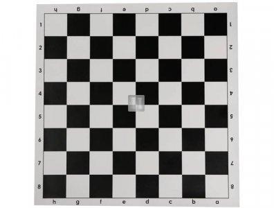 "Basic Vinyl Chessboard - Black/White - 17"" x 17"""