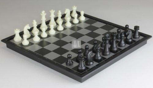 Small high-quality magnetic chess & checkers set