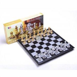 Small High-Quality Magnetic Chess Set GOLD