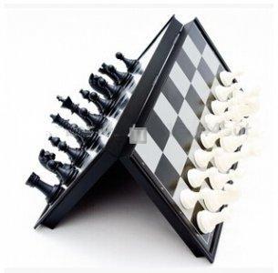 Scacchiera completa magnetica da viaggio 30.5x30.5cm + dama + backgammon