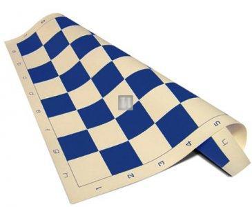 50 x 50 Scacchiera da torneo in plastica, avvolgibile. Bianco-Blu