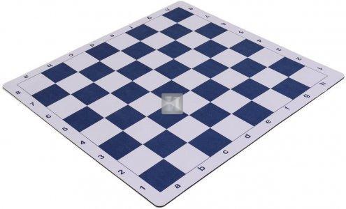 51 x 51 Scacchiera da torneo gommata tipo mousepad - bianco-blu