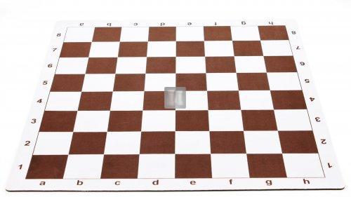 51 x 51 Scacchiera da torneo gommata tipo mousepad - bianco-marrone