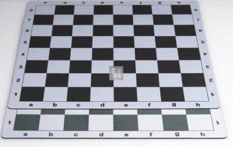 51 x 51 Scacchiera da torneo gommata tipo mousepad - bianco-nero
