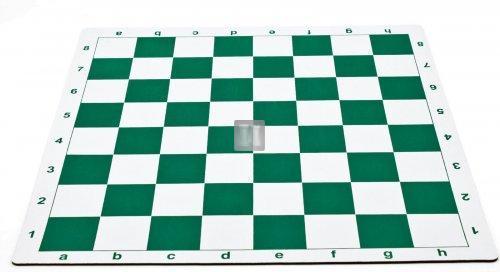 51 x 51 Scacchiera da torneo gommata tipo mousepad - bianco-verde