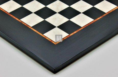 54 x 54 Scacchiera da torneo in bolivar dipinto e radica di acero